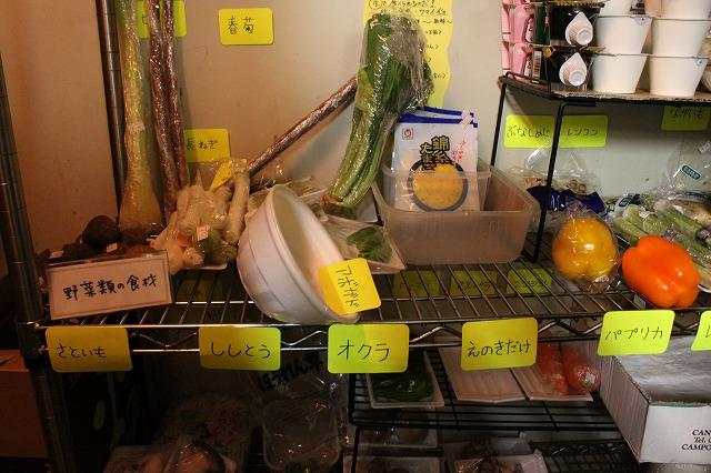 中野、「清貧」の野菜