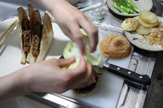 バウンスキッチンのハンバーガーをつくってみた。盛り付け!