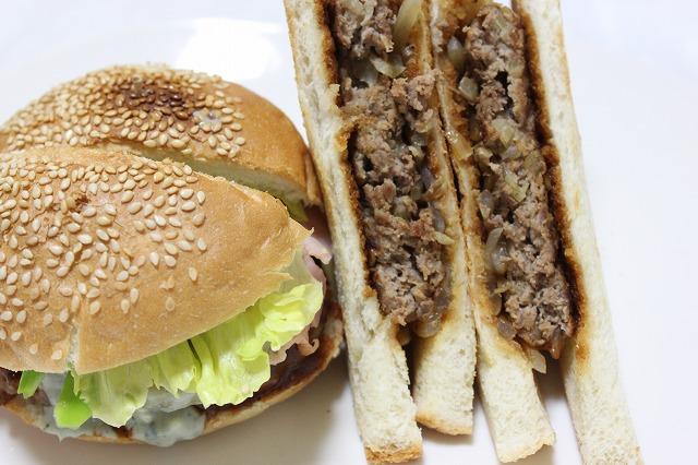 バウンスキッチンのハンバーガーをつくってみた。ひいた絵。