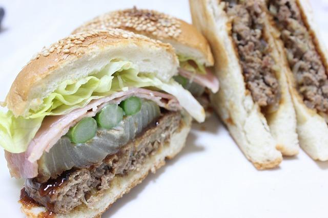 バウンスキッチンのハンバーガーをつくってみた。ゴルゴンカワシマサンド!