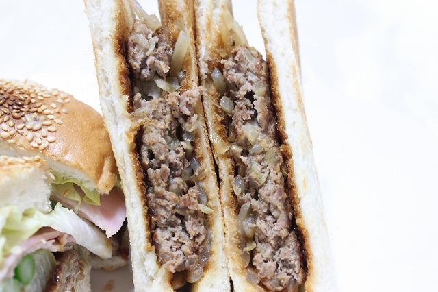 バウンスキッチンのハンバーガーをつくってみた。ミートカワシマサンド。