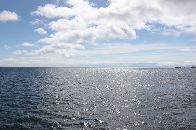 田代島から帰る途中の海の画像だよ