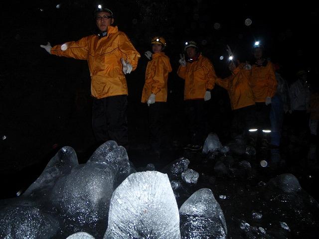そうだ、富士樹海で洞窟探検しよう-氷のフィールド