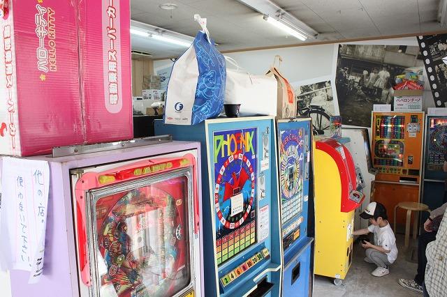 板橋、「駄菓子屋ゲーム博物館」の筐体